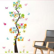 DIY Owls Flower Tree Butterfly Wall Sticker Mural Vinyl Decals Kid Nursery Decor