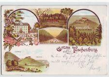 Litho Gruss von der Paschenburg  Schaumburg 1898