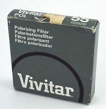 VINTAGE VIVITAR POLARIZER 55mm CAMERA FILTER
