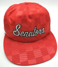 HARRISBURG SENATORS hat vintage red adjustable cap wide flat brim