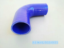 "BLUE 76mm/3"" 90 Degree Silicone Elbow hose Intake Turbo Joiner Intercooler Pipe"