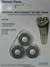 Lot de 3 têtes de rasoirs universelles compatibles HQ8,HQ177,HQ9 pour PHILIPS