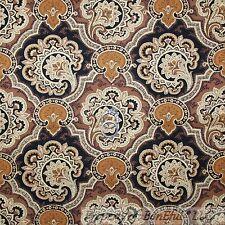 BonEful Fabric FQ Cotton Quilt Brown Tan Gold Flower Glitter Dot Gothic S Damask