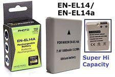 Hi Capacity EN-EL14a Lithium Ion Battery for Nikon EN-EL14