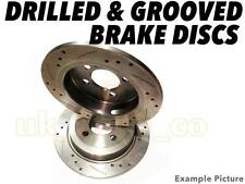 Drilled & Grooved REAR Brake Discs For SUBARU FORESTER (SF) 2.0 S Turbo 1998-01