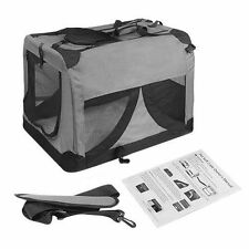 Pet Dog Soft Crate Portable Carrier Cage Kennel Tent Folding Large XXXL Grey