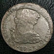1783 Mo FF Mexico Bust 8 Reale Whale Cluster Clump Silver Shipwreck Pillar Coin