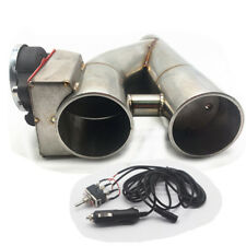 "Patented 2.5"" Electric Exhaust Downpipe Cutout E-Cut Out Dual-Valve Manual Kit"