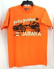 Harley Davidson Motorcycles Jamaica Short Sleeve Shirt Sz M Mens Orange Beach HD