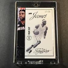 LEBRON JAMES 2012 PANINI SIGNATURES #142 SILVER PARALLEL CARD #'D /25 NBA