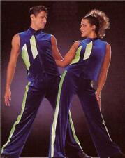 Nail It Dance Tap Costume Unisex Zipper Vest Top and Hip Hop Pants Adult Large