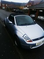 Ford streetka convertible Red Leather Ice Edition good condition