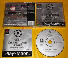 UEFA CHAMPIONS LEAGUE 1998/99 Ps1 Versione Ufficiale Italiana 1ª Ed COMPLETO C2