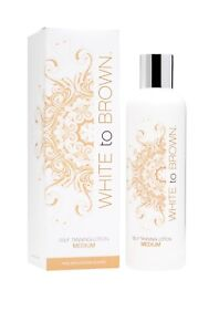 2 X White to Brown 250ml self tan lotion fake tan cream medium whitetobrown