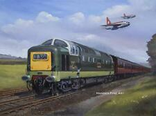 D9009 Alycidon Deltic English Electric Lightning Aircraft  Art Painting Print