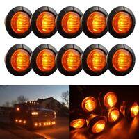 10x Amber Side Marker LED Indicators Light for TruckTrailer SUV Caravan 12V-24V