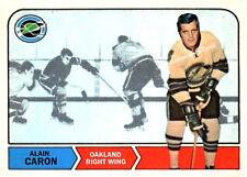 Custom made topps 1968-69 Oakland Seals Alain Caron hockey card .
