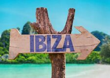 A1 Ibiza Sign Poster Art Print 60 x 90cm 180gsm Spain Island Summer Gift #15021