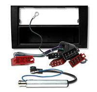 AUDI A4 B6 8E Radio Einbauset Blende Rahmen + Adapter Kabel Antenne Rahmen Auto