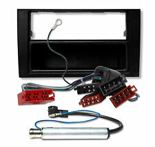Audi a4 b6 8e radio kit de integracion diafragma marco + adaptador cable antena
