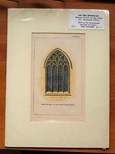 Original Lithograph Etching Austin Friars The Dutch Church London ca 1820