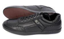 BRIONI Black Leather Shearling Fur Lined Fashion Sneakers Shoes 8 UK 9 US NIB!