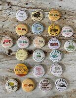 Big Lot Of Vintage Iowa Tractor Pinbacks / Buttons Waukee IA -80's & 90's