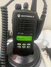 Motorola HT1250 UHF 450-512Mhz 128Ch 4W Radio AAH25SDF9AA5AN w/ Accessories