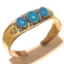 Amazing Tibetan Silver Brass Chalcedony Cuff Bracelet Bangel Gemstone Jewelry