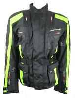 Spada Hi-Vis Motorcycle Jacket Waterproof Motorbike Road Bike Size L