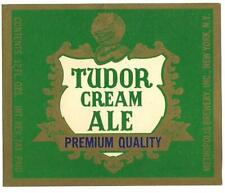 Tudor Cream Ale Beer Label, Irtp, Metropolis Brewery, Inc., New York, Ny 12 oz