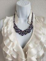 EUC Givenchy Purple Rhinestone Necklace Statement Looks New