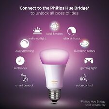 Philips Hue White and Color Ambiance A19 60W Equivalent Dimmable LED Smart Bulb