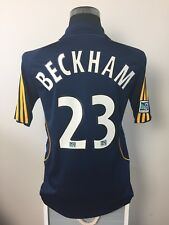 BECKHAM #23 LA Galaxy Away Football Shirt Jersey 2008 (S)