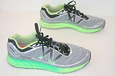 "New Balance ""Fresh Foam"" Gray/Lime Green Running Shoes. Men's 12 D (eur 46.5)"