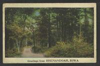 1920s GREETINGS FROM SHENANDOAH IOWA POSTCARD