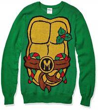 TEENAGE MUTANT NINJA TURTLES TMNT - Men's Ugly Christmas Sweater GREEN LARGE