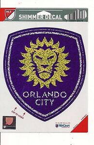 ORLANDO CITY LIONS PREMIUM SHIMMER REFLECTIVE PEEL AND STICK 5'' DECAL  NEW MLS