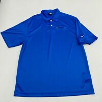Nike Golf Polo Shirt Mens Large Short Sleeve Blue Dri-Fit Polyester