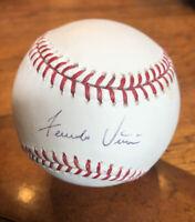 Fernando Vina Autographed OML Baseball (Selig) Brewers, Cardinals, Mets, Tigers