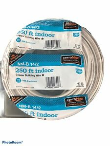250' Roll of 14-2 w/Ground NM-B Indoor Copper Electrical Wire cerroMax New