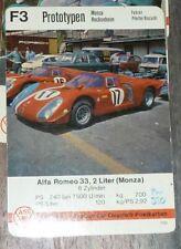 Autoquartett-Postkarten (ASS)   DIN A 6 - Postkarte   Rennwagen