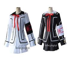 Vampire Knight Yuki Cross White Black Women Dress Cosplay Costume Uniform Suit