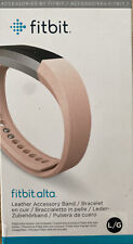 New Fitbit - Alta Leather band (Large) - Blush Pink