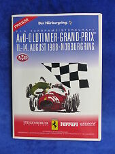 Ferrari AvD-Oldtimer-Grand-Prix Nürburgring Augst 1988 - Pressemappe Press-Kit