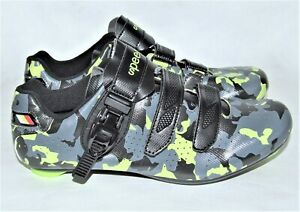 Speed Green/Black/Gray Camouflage Camo Cycling Bike Shoes Size 45