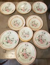 Adams Calyx Ware METZ LOT of (9) Salad/Dessert (10) B&B Plate Set Floral Pattern