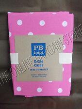 Pottery Barn Teen Dottie Bed Dorm Pillow cases Standard Set 2 Bright Pink