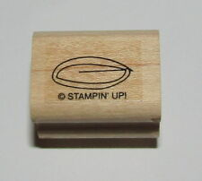 Leaf Rubber Stamp Flower Tree Stampin Up Wood Mounted 1""