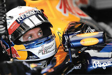 Sebastian Vettel SIGNED 12x8 Portrait ,F1 Red Bull RB8, Monaco Grand Prix, 2012